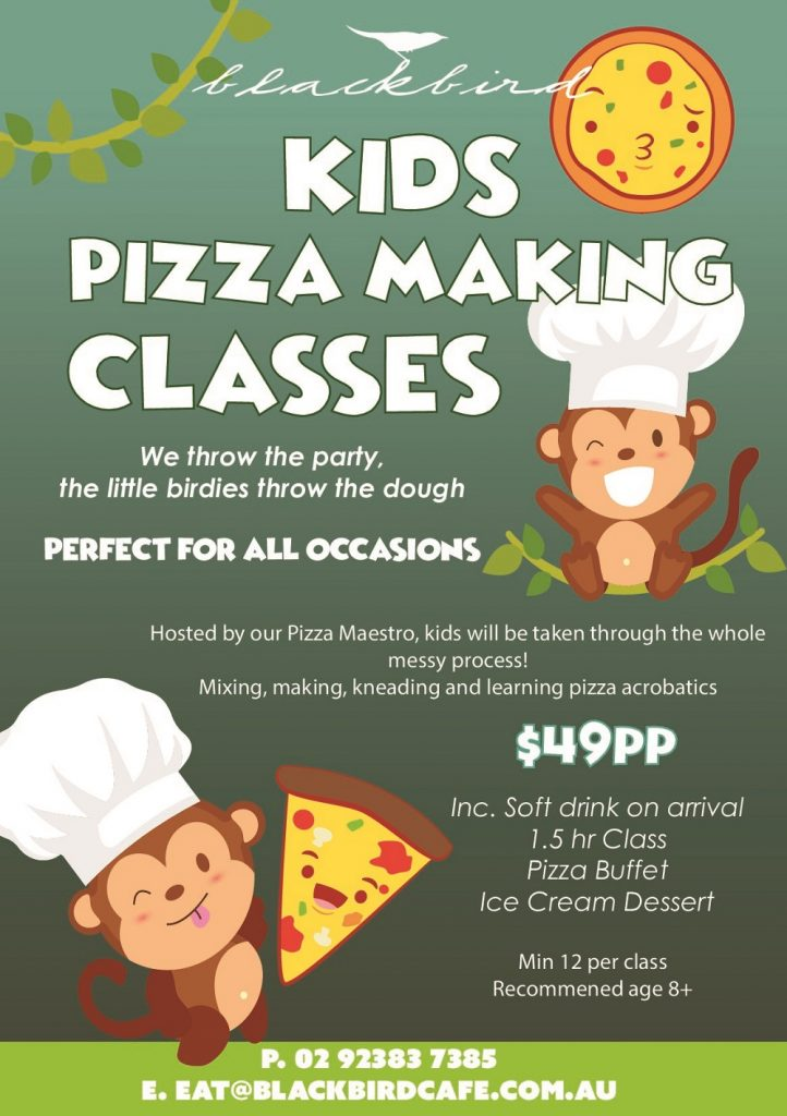 Kids Pizza Classes. Watch then squeal in delight making pizzas