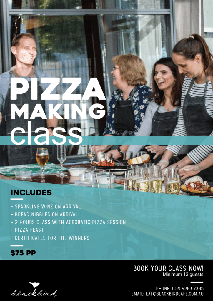 Pizza Making Classes at Blackbird Cafe